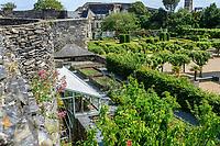 France, Maine-et-Loire (49), Angers, château d'Angers, les jardins, le potager suspendu