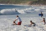 Surfing Carmel Beach