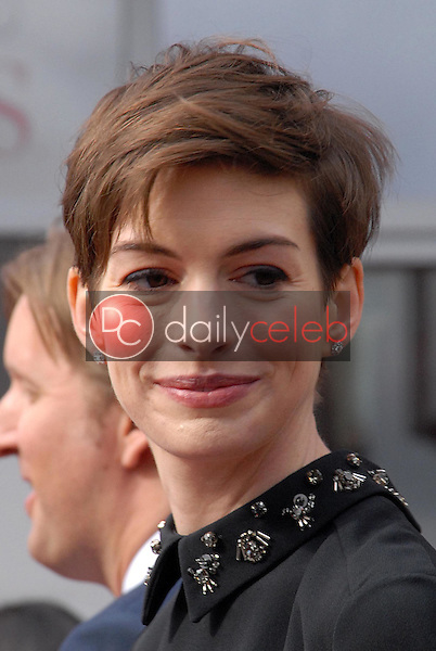 Anne Hathaway<br /> at the Hugh Jackman Star on the Hollywood Walk of Fame Ceremony, Hollywood, CA 12-13-12<br /> David Edwards/DailyCeleb.com 818-249-4998