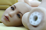 June 23, 2010- Tokyo, Japan - A Love Doll's head is shown prior to assembly by a worker at the Orient Industry factory in Tokyo, Japan, on June 23, 2010. Orient Industry is a 33-year-old company which is number one in Japan for producing over 1,000 Love Dolls annually, ranging in price from ¥90,000 to ¥700,000.