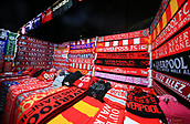 30th January 2019, Anfield, Liverpool, England; EPL Premier League football, Liverpool versus Leicester City; Liverpool FC scarves on sale outside the Kop prior to the match