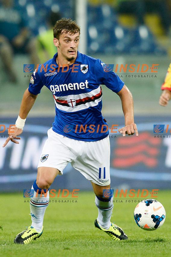 Genova 17/08/2013 - coppa Italia / Sampdoria-Benevento / foto Daniele Buffa/Image Sport<br /> nella foto: Manolo Gabbiadini <br /> Football Calcio 2013/2014 Coppa Italia<br /> Foto Insidefoto