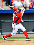 10 March 2012: Washington Nationals' third baseman Ryan Zimmerman in action against the New York Mets at Space Coast Stadium in Viera, Florida. The Nationals defeated the Mets 8-2 in Grapefruit League play. Mandatory Credit: Ed Wolfstein Photo