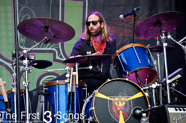 Matthew Burr of Grace Potter and the Nocturnals performs during the All Good Music Festival at Legend Valley in Thornville, Ohio.