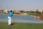 Lee Westwood tees off on the par 3 6th hole during the opening round of Day 1 at the Dubai World Championship Golf in Jumeirah, Earth Course, Golf Estates, Dubai  UAE, 19th November 2009 (Photo by Eoin Clarke/GOLFFILE)