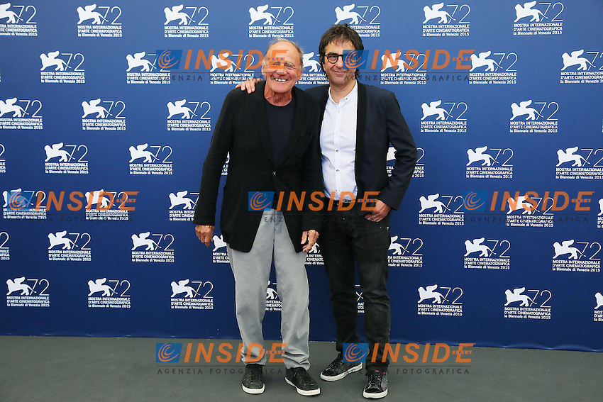 VENICE, ITALY - SEPTEMBER 10: Bruno Ganz and Atom Egoyan attend 'Remember' Photocall during 72nd Venice Film Festival at Palazzo Del Cinema on September 10, 2015 in Venice, Italy. (Mark Cape/insidefoto)