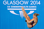Mcc0055084 . Daily Telegraph<br /> <br /> England's Sarah Barrow diving in the Women's 10m Platform at the Royal Commonwealth Pool in Edinburgh on Day 8 of the 2014 Commonwealth Games .