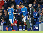 Graham Dorrans is subbed after taking a knock