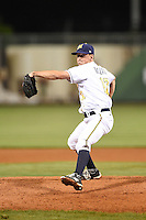 Montgomery Biscuits pitcher Andrew Bellatti (17) delivers a pitch during a game against the Mississippi Braves on April 21, 2014 at Riverwalk Stadium in Montgomery, Alabama.  Montgomery defeated Mississippi 6-2.  (Mike Janes/Four Seam Images)