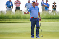 Jason Dufner (USA) after sinking his putt on 11 during Thursday's round 1 of the 117th U.S. Open, at Erin Hills, Erin, Wisconsin. 6/15/2017.<br /> Picture: Golffile | Ken Murray<br /> <br /> <br /> All photo usage must carry mandatory copyright credit (&copy; Golffile | Ken Murray)