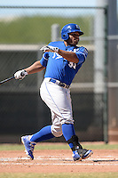 Kansas City Royals outfielder Alexis Rivera (33) during an instructional league game against the Seattle Mariners on October 2, 2013 at Surprise Stadium Training Complex in Surprise, Arizona.  (Mike Janes/Four Seam Images)