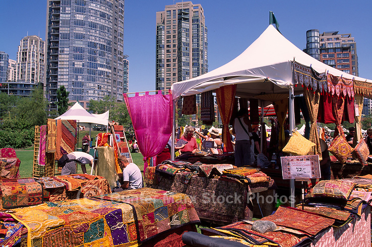 Goods from Indonesia for Sale at Vendor Bazaar and Market in David Lam Park, Yaletown, Vancouver, BC, British Columbia, Canada