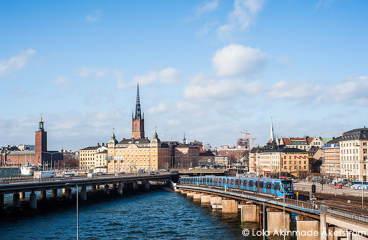 View of Riddarholmenm Gamla stan and Kungsholmen - Street scenes from Stockholm