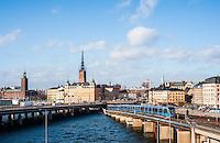 View of Riddarholmenm Gamla stan and Kungsholmen - Street scenes from Stockholm
