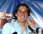 Carolina Courage forward Birgit Prinz in Cary, North Carolina on 5/12/03 during a press conference announcing details of the 2003 WUSA All-Star Game.