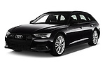 2019 Audi A6 Avant Sport 5 Door Wagon angular front stock photos of front three quarter view