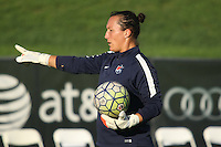 Piscataway, NJ - Wednesday Sept. 07, 2016: Jill Loyden prior to a regular season National Women's Soccer League (NWSL) match between Sky Blue FC and the Orlando Pride FC at Yurcak Field.