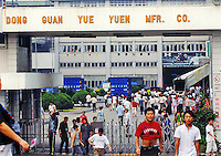 The Yuen Yue shoe factory complex where 100,000 workers make shoes in Gao Bu Town , Guangdong, China. The complex makes shoes for shoemakers Puma, Adidas and Nike amongst others..06 Sep 2006