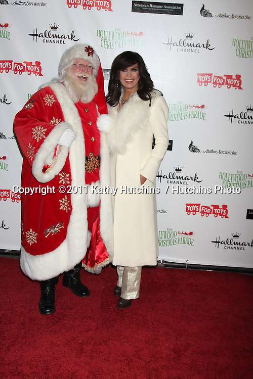 LOS ANGELES - NOV 27:  Marie Osmond arrives at the 2011 Hollywood Christmas Parade at Hollywood Boulevard at Sycamore on November 27, 2011 in Los Angeles, CA