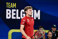 10th January 2020; Sydney Olympic Park Tennis Centre, Sydney, New South Wales, Australia; ATP Cup Australia, Sydney, Day 8; Belgium versus Spain;David Goffin of Belgium versus Rafael Nadal of Spain; David Goffin of Belgium - Editorial Use
