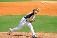 18 March 2012:  FIU pitcher Jose Lazaro (1) pitches in relief as the Florida Atlantic University Owls defeated the FIU Golden Panthers, 9-3, at University Park in Miami, Florida.