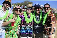 Colourful fans enjoy Saturday's Round 3 of the Waste Management Phoenix Open 2018 held on the TPC Scottsdale Stadium Course, Scottsdale, Arizona, USA. 3rd February 2018.<br /> Picture: Eoin Clarke | Golffile<br /> <br /> <br /> All photos usage must carry mandatory copyright credit (&copy; Golffile | Eoin Clarke)