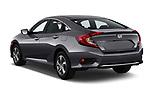 Car pictures of rear three quarter view of a 2019 Honda honda LX 4 Door Sedan angular rear
