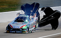 Sept. 6, 2010; Clermont, IN, USA; NHRA funny car driver John Force during the U.S. Nationals at O'Reilly Raceway Park at Indianapolis. Mandatory Credit: Mark J. Rebilas-