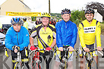 Adrian Shanahan Currow, Gerard O'Sullivan Currow, John Daly Listowel and Stephen O'Shea Tralee  at the Currow CC fun cycle on Sunday ..