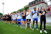 Boyds, MD - Saturday August 12, 2017: Boston Breakers bench during a regular season National Women's Soccer League (NWSL) match between the Washington Spirit and The Boston Breakers at Maureen Hendricks Field, Maryland SoccerPlex.