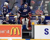 Kyle Palmieri (USA - 23), Philip McRae (USA - 9), Tyler Johnson (USA - 10), Mike Lee (USA - 30), AJ Jenks (USA - 22) - Team Canada defeated Team USA 5-4 (SO) on Thursday, December 31, 2009, at the Credit Union Centre in Saskatoon, Saskatchewan, during the 2010 World Juniors tournament.