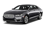 2017 Lincoln MKZ Reserve 4 Door Sedan Angular Front stock photos of front three quarter view