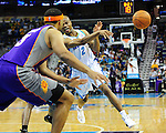 The New Orleans Hornets defeat the Phoenix Suns, 100-95, in NBA action at the New Orleans Arena.<br />   Images within this gallery are not available for purchase and appear solely as a representation of my photography.