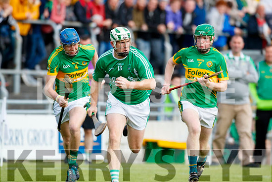 Padraig Boyle Ballyduff in action against Conor O'Keeffe Lixnaw in the Senior County Hurling Final in Austin Stack Park on Sunday