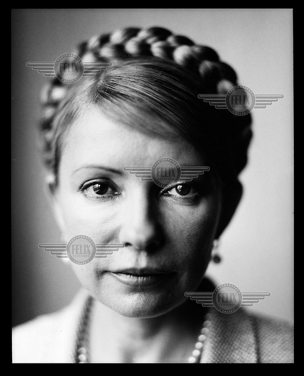 A portrait of Yulia Tymoshenko, former Ukrainian Prime Minister and leader of the opposition party All-Ukrainian Union 'Fatherland'. Tymoshenko has been on a hunger strike since 20 April 2012 whilst being held in prison in Kharkiv.