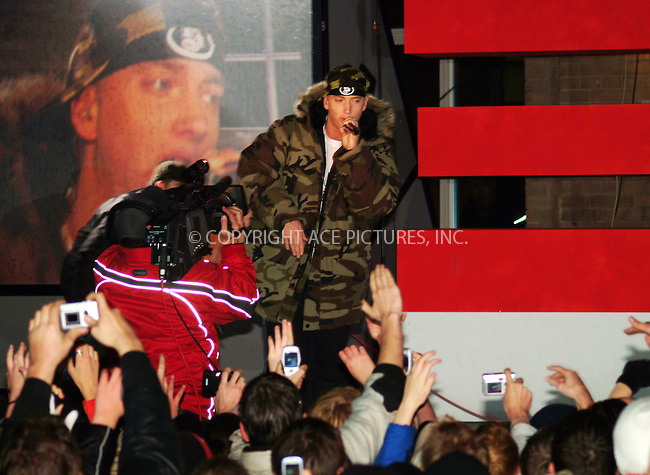 WWW.ACEPIXS.COM . . . . .  ... . . . . US SALES ONLY . . . . .....BERLIN, NOVEMBER 22, 04....Eminem performing in Berlin, Germany.....Please byline: FAMOUS - ACE PICTURES - FAM14024... . . . .  ....Ace Pictures, Inc:  ..Alecsey Boldeskul (646) 267-6913 ..Philip Vaughan (646) 769-0430..e-mail: info@acepixs.com..web: http://www.acepixs.com