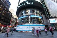 NEW YORK, NY, 17.04.2017 - ECONOMIA-NASDAQ - Vista da bolsa de valores Nasdaq em New York nesta segunda-feira, 17. (Foto: William Volcov/Brazil Photo Press)