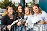 Elle Supple (Ballyheigue), Leanne O'Connor (Castleisland) Kate Sheehy and Ellen Daly (Tralee), students from Brookfield College, Tralee, pictured with their Leaving Certificate results on Wednesday morning.