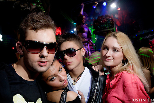 Youngsters party at the Rai Nightclub in Moscow