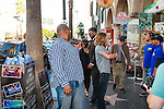 A mock paparazzi stunt with OZY's Senior Editor Sanjena Sathian pretending to be a director named Katrina near the famous TCL Chinese Theatre along Hollywood Boulevard in Hollywood, California February 14, 2015.