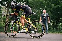 Sylvain Chavanel (FRA/Direct Energie)<br /> <br /> Stage 20 (ITT): Saint-P&eacute;e-sur-Nivelle &gt;  Espelette (31km)<br /> <br /> 105th Tour de France 2018<br /> &copy;kramon