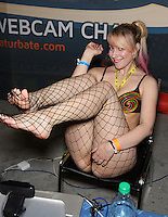 KimberKiss [Chaturbate] at Exxxotica, Broward County Convention Center, Fort Lauderdale, FL, Saturday May 3, 2014.