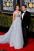 LOS ANGELES, CA. January 06, 2019: Alison Brie & Dave Franco at the 2019 Golden Globe Awards at the Beverly Hilton Hotel.<br /> Picture: Paul Smith/Featureflash