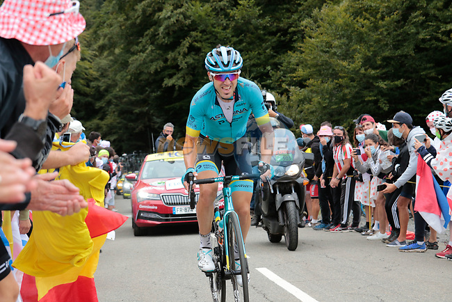Ion Izaguirre Insausti (ESP) Astana Pro Team climbs Col de Marie Blanque during Stage 9 of Tour de France 2020, running 153km from Pau to Laruns, France. 6th September 2020. <br /> Picture: Colin Flockton | Cyclefile<br /> All photos usage must carry mandatory copyright credit (© Cyclefile | Colin Flockton)