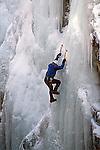 DAREDEVIL CLIMBER DESCENDS ICE PARK