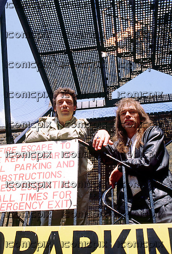 GTR - Steve Hackett and Steve Howe - photosession in London UK - 1986.  Photo credit: PG Brunelli/IconicPix
