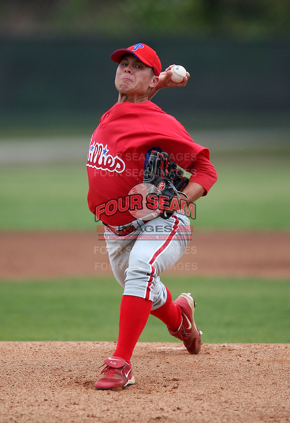March 25, 2010:  Pitcher Michael Cisco of the Philadelphia Phillies organization during a Spring Training game at the Carpenter Complex in Clearwater, FL.  Photo By Mike Janes/Four Seam Images