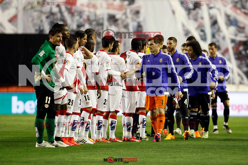 La Liga match between Rayo Vallecano and Real Madrid at Vallecas Stadium in Madrid, Spain. April 08, 2015. (ALTERPHOTOS/Caro Marin) /NORTEphoto.com