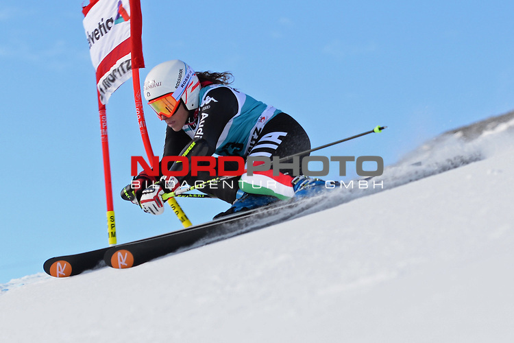 ST MORITZ, SWITZERLAND - DECEMBER 15: Federica Brignone of Italy  during the Audi FIS Alpine Ski World Cup giant slalom race on December 15 2013 in St Moritz, Switzerland. <br /> Foto nph / Gunn