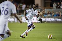 SAN JOSE,  - AUGUST 31: Lamine Sané #22 of the Orlando City SC during a game between Orlando City SC and San Jose Earthquakes at Avaya Stadium on September 1, 2019 in San Jose, .